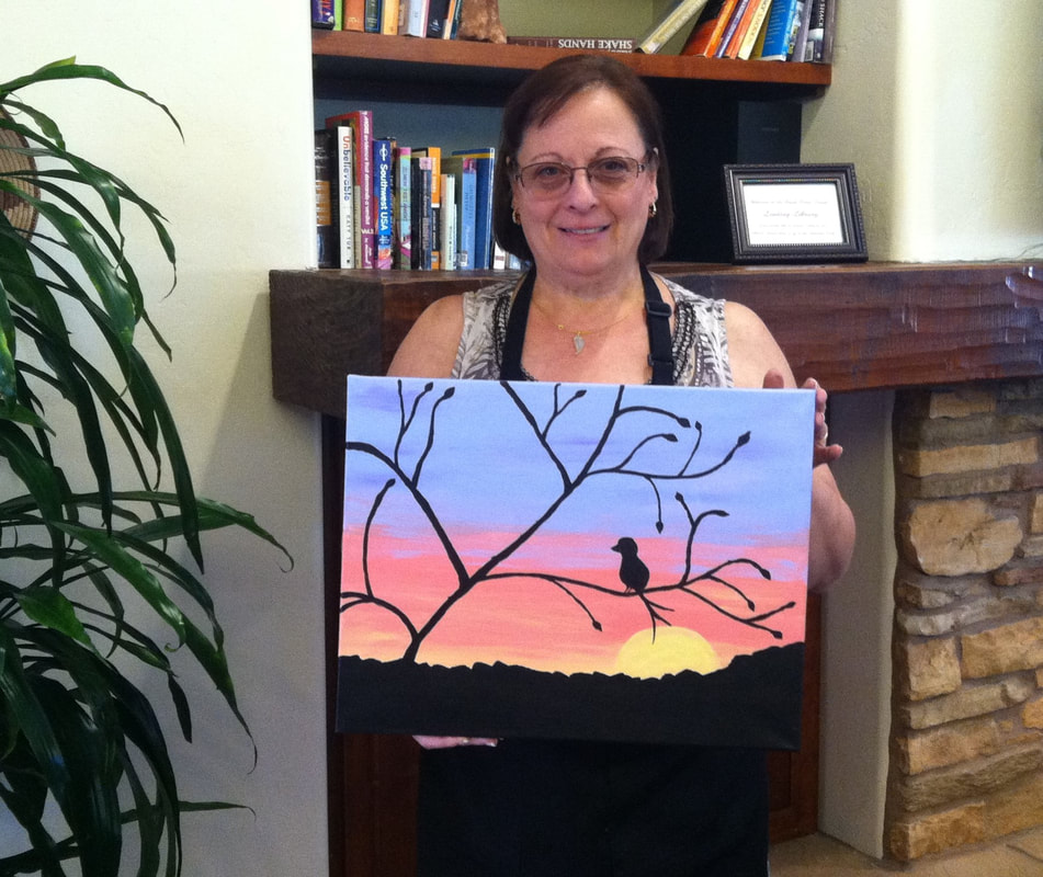 Social Painting at the Hyatt in Sedona